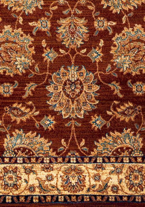 10 X 10 Area Rugs Bellevue Traditional Floral Area Rug In Khaki Burgundy 7 10 Quot X 10 10 Quot