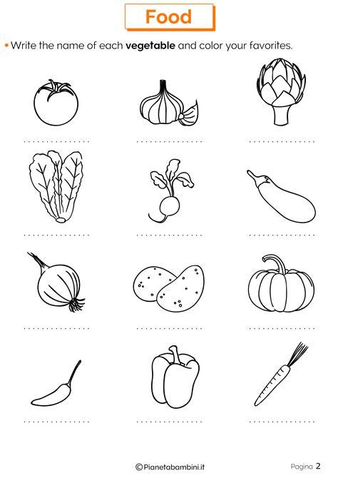 alimentazione schede didattiche cibo in inglese schede didattiche per la scuola primaria