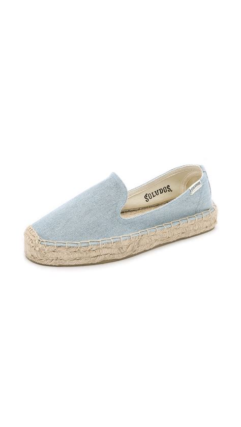 denim slippers soludos denim platform slipper espadrilles denim