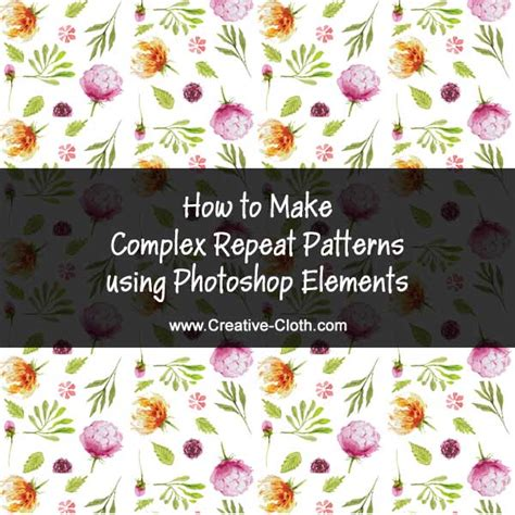 Create Pattern In Photoshop Elements | how to make complex repeating patterns using photoshop