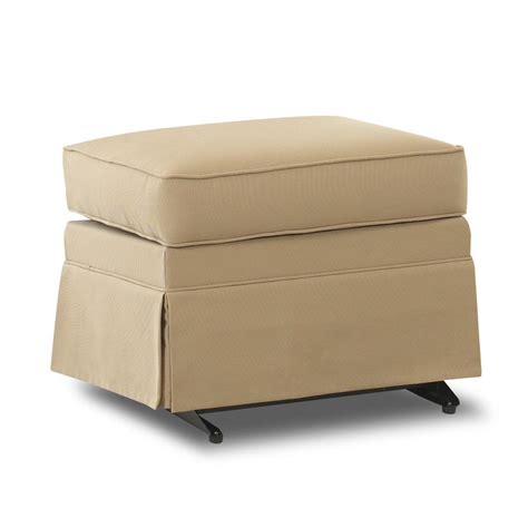 Gliding Ottoman Klaussner Chairs And Accents Carolina Skirted Gliding Ottoman Value City Furniture Ottomans