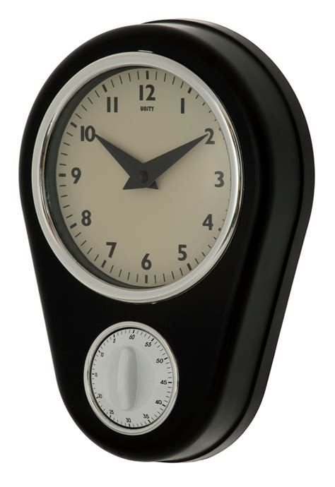 Countdown Clock - unity abcott kitchen countdown timer wall clock in black