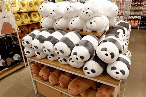 Boneka Miniso we bare bears at miniso mall of asia store opening spot ph