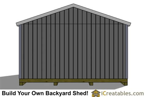16 X 24 Shed by 16x24 Shed Plans Large Shed Plans