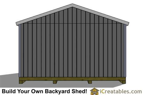 16 X 24 Shed Plans by 16x24 Shed Plans Large Shed Plans
