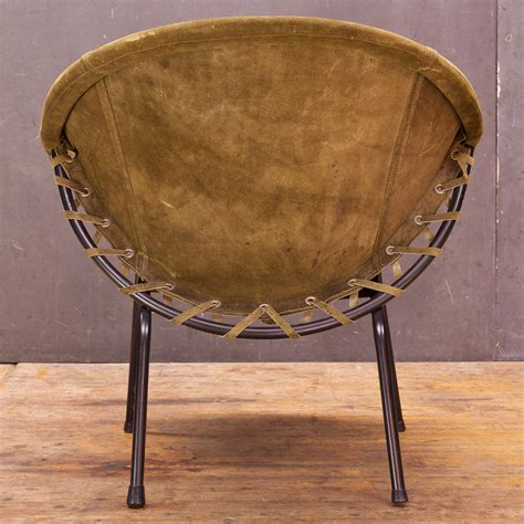 Leather Circle Brown 1960s lusch circle chair in greenish brown suede leather at 1stdibs