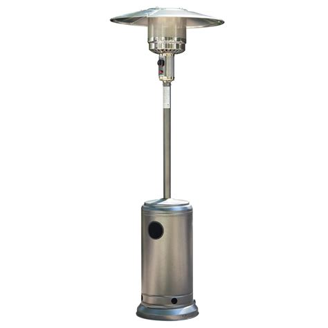 Outdoor Patio Gas Heaters Silver Powder Coated Hammered Metal Steel Outdoor Bbq Gas