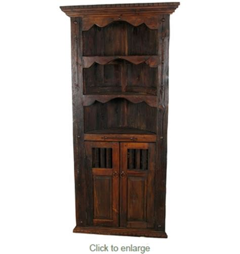 wood corner cabinet rustic wood corner cabinet with shelves