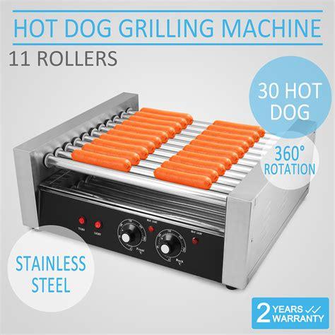 hot dog machine with bun warmer hot dog countertop roller grill sausage hamburger bun