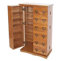Oak Dvd Storage Cabinet Leslie Dame Library Style Multimedia Storage Cabinet Oak Cd 612ld
