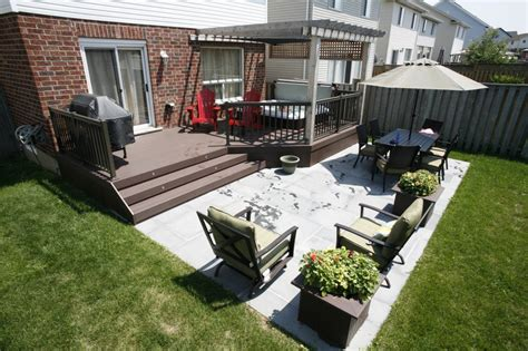 backyard porches and decks patio and deck combination deck and patio combos