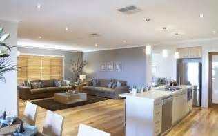 open plan kitchen dining room and living room area on