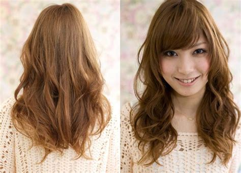 long hair layered permed with bangs 27 best images about permed hair on pinterest long hair