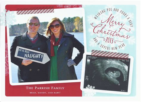 holiday card pregnancy announcement  husband    inspiration  pinterest