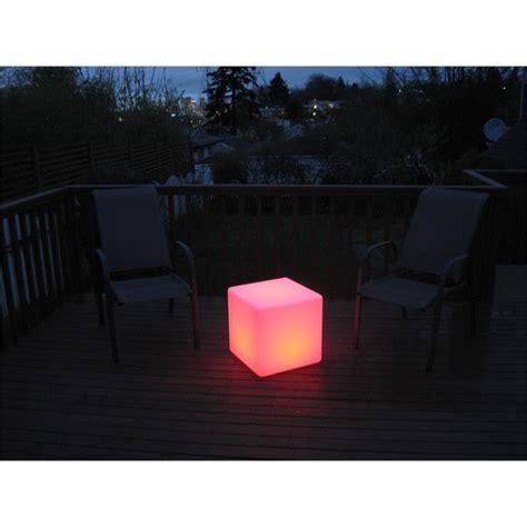 led cube seat light  glow cube chair eternity led