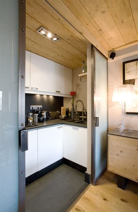 good Small Apartment Living Room #3: Small-Apartment-with-Natural-Wood_4.jpg
