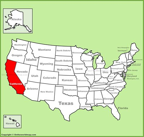 us map states california california location on the u s map