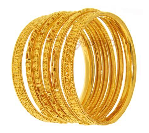Handmade Gold Bangles - 22kt gold handmade bangles bast1405 22 kt gold