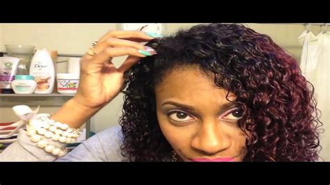 Curly Hairstyles On Relaxed Hair | blending relaxed hair w curly weave ft quot she hair