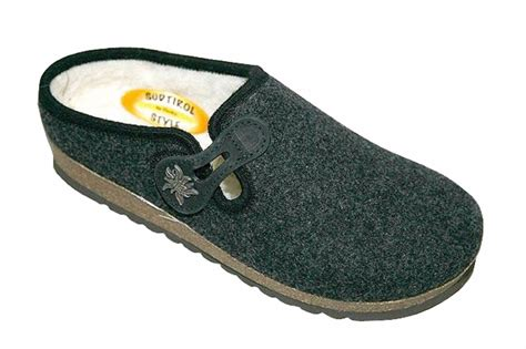 Slippers Handmade - handmade tyrolean slippers gardena model anthracite