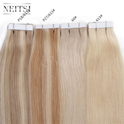 14 quot skin weft extensions neitsi 5a 20 quot 50g 100g remy skin weft ombre human