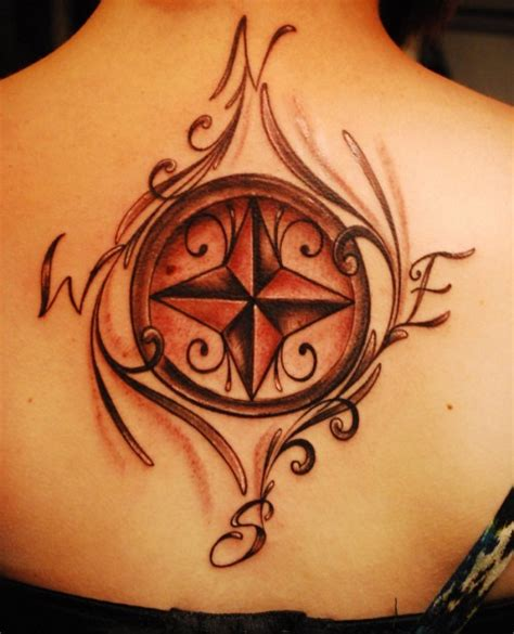 tattoo compass on back compass tattoo designs inspirationkeys