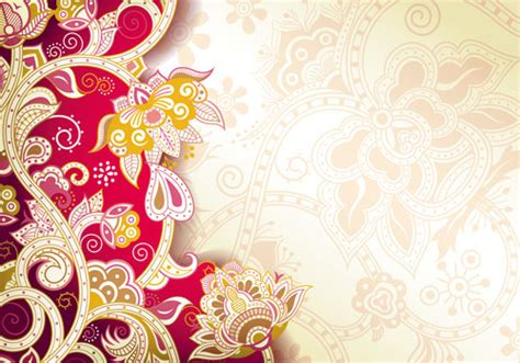 Animal Ornaments by Floral Patterns Retro Style Background 04 Vector