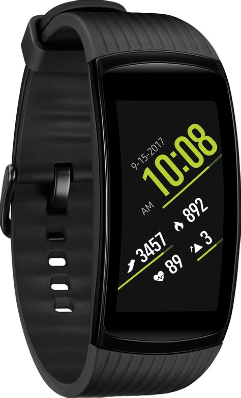 samsung gear fit2 pro fitness smartwatch large black sm r365nzkaxar best buy