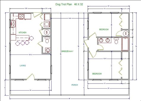 Dogtrot Floor Plans | lssm13 dog trot plan lonestar builders