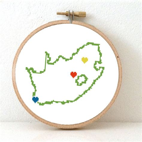 pattern maker cape town south africa map cross stitch pattern south africa hand