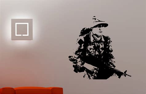 army wall decor army soldier wall sticker bedroom