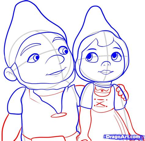 How to Draw Gnomeo and Juliet, Step by Step, Movies, Pop