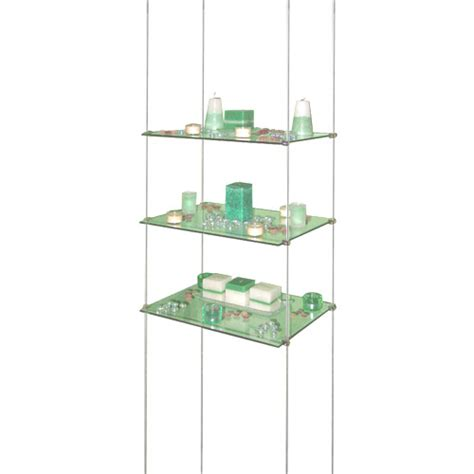 Suspended Shelf by Suspended Glass Shelves