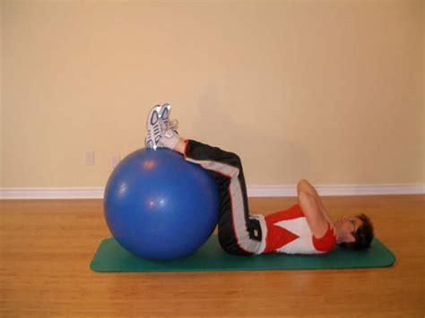 ab crunch   floor   exercise ball