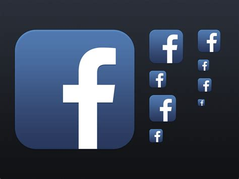 fb app dribbble facebook app icon png by filament