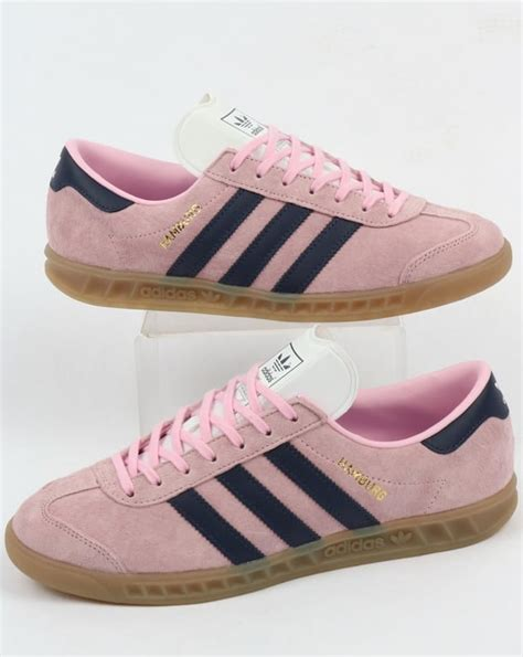 adidas hamburg trainers pink trace blue originals shoes mens sneakers