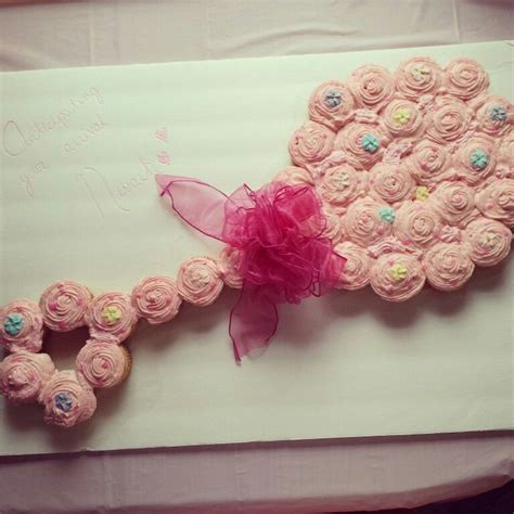 Cupcake Cakes For Baby Shower by Pink Baby Rattle Cupcake Cake For A Baby Shower My