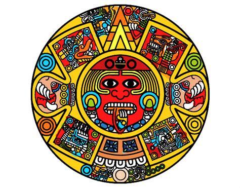 Calendario O Azteca Dibujo De Calendario Azteca Pintado Por En Dibujos Net El
