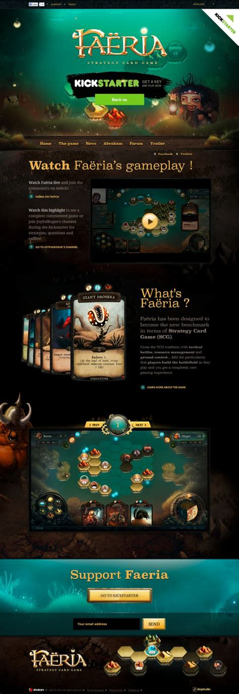 design game web faeria strategy card game webdesign inspiration www
