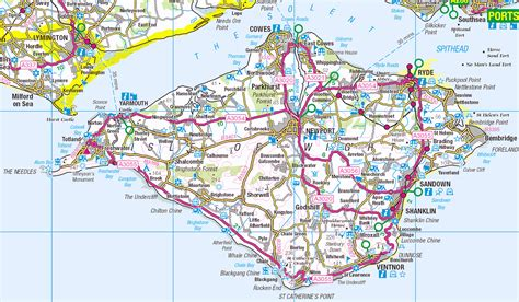 printable road map of isle of wight isle of wight familypedia