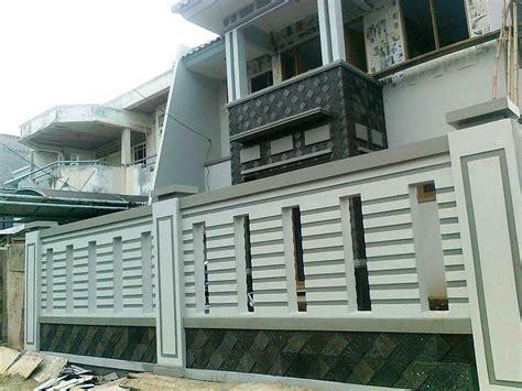 desain rumah yg cantik 33 contoh gambar dan model pagar tembok rumah minimalis