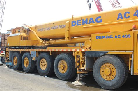 mobile crane for sale used original demag ac435 150ton mobile crane for sale