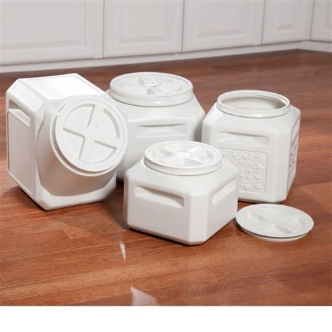 Bull Makes For Stylish Food Storage by Stylish Vittles Vault Home Collection Stackable Food