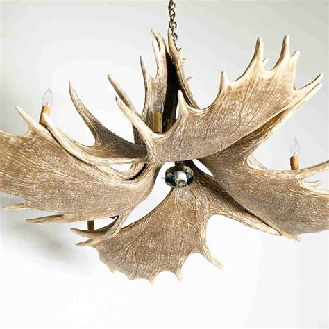 Mason Moose Antler Chandelier Max Livie Moose Antler Chandelier
