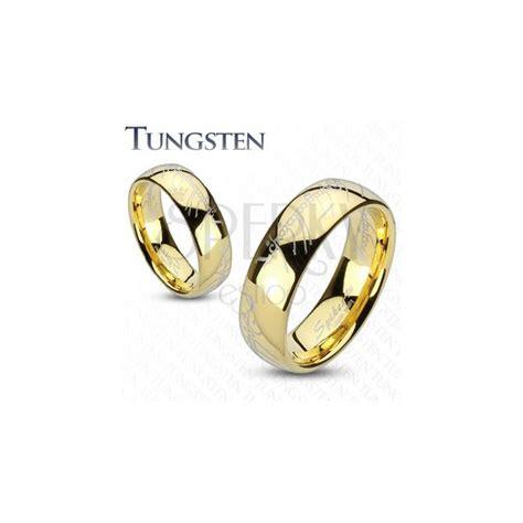 herr der ringe trauringe trauring aus tungsten in gold motiv aus herr der ringe