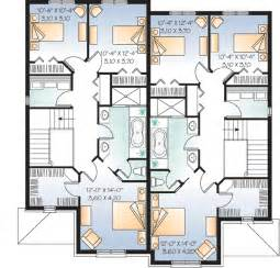 Duplex House Plans Canada Plan W21486dr Attractive Duplex With Covered Entry E Architectural Design