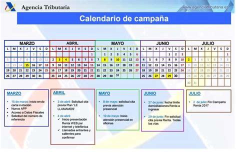 calendario de la renta ya puedes pedir cita previa a hacienda para renta 2017 ya puedes consultar el calendario de la ca 241 a