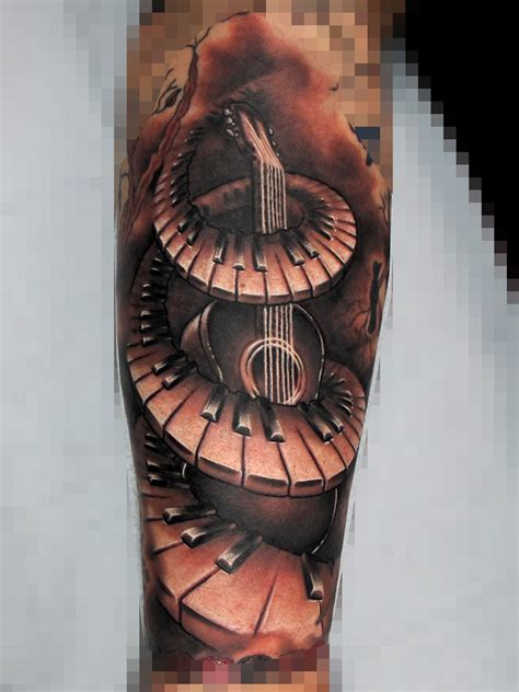 keyboard tattoo piano