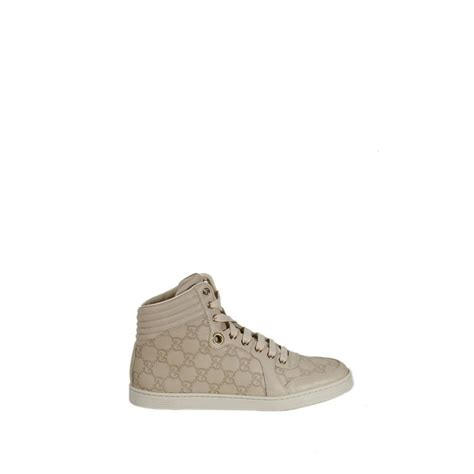 gucci tennis shoes for gucci shoes tennis ankle guccissima in beige yellow