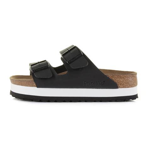 narrow womens sandals womens birkenstock arizona papillo black white narrow fit